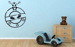 Muursticker cirkel voetbal 50 x 60 cm | Rosami