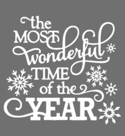 Raam decoratie sticker | the most wonderful time of the year | Rosami
