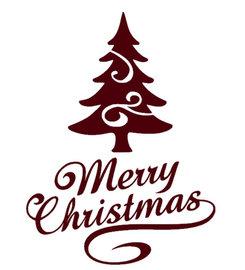 Raam / Decoratie sticker Merry Christmas met kerstboom | Rosami