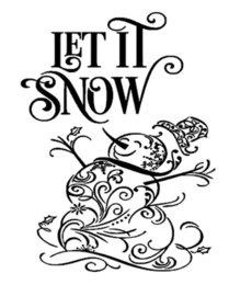 Raam decoratie sticker let it snow met sneeuwpop | Rosami