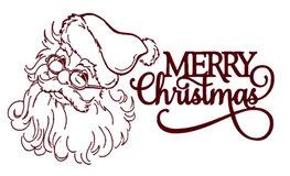 Raam decoratiesticker Kerstman Merry Christmas | Rosami