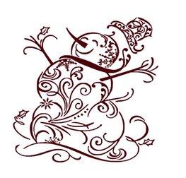 Decoratie raam sticker Sneeuwpop | Rosami