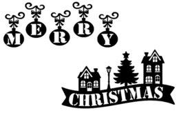 Raamsticker herbruikbaar Merry Christmas huisjes | Rosami