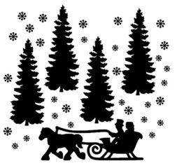 Uitbreidingsset 3 raamsticker kerst wintertafereel 3 herbruikbaar statisch | Rosami