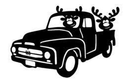 Raamsticker herbruikbaar 2 rendieren in auto | Rosami