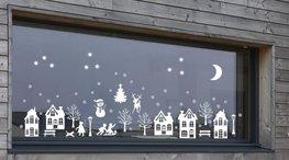 59 delige Voordeelset raamsticker herbruikbaar kerst wintertafereel 2 & basisset 2 | Rosami