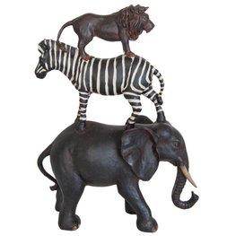 Decoratiebeeld Olifant Zebra Leeuw XXL