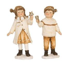 Set jongen & meisje goud met bel & ster | Clayre & Eef