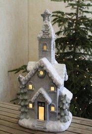 Kerktoren met led verlichting 77 x 36 cm   603822   Goldbach