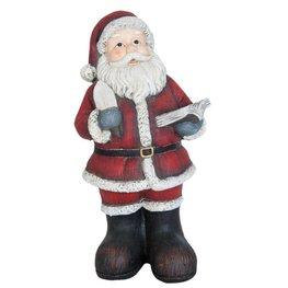 Kerstman met boek 45 cm 6PR0785 | Winter & Kerst decoratie | Clayre & Eef