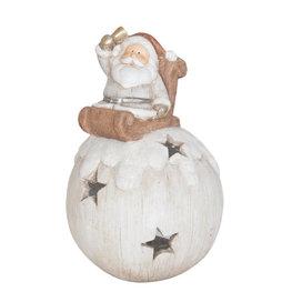 Windlicht Kerstman 39 cm 6PR0787 | Winter & Kerst decoratie | Clayre & Eef