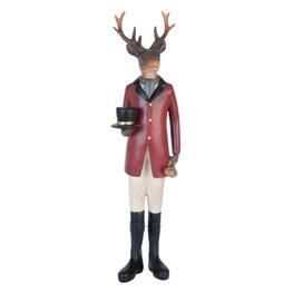 Beeld hert met hoed 35 x 10 cm | 6PR0984 | Kerst | Winter | Clayre & Eef