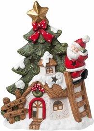 Waxinelichthouder huis kerstman 55 cm | 6TE0163 | Clayre & Eef