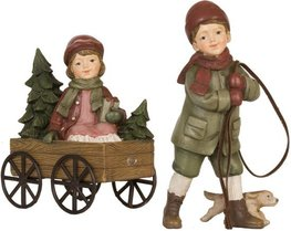 Kinderen met bolderkar | 6PR0633 | Clayre & Eef