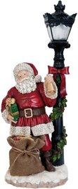 Kerstman bij lantaarnpaal met led lampje | 6PR0995 | Clayre & Eef