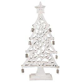 Kerstboom hout met bellen 60 x 30 cm | 6H1533M | Clayre & Eef