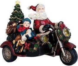 Kerstman op motor met zijspan  | 6PR0993 | Clayre & Eef