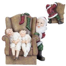 Kerstman achter stoel met kinderen  | 6PR0964 | Clayre & Eef