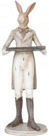 Deco konijn jongen met dienblad   6PR1056   Clayre & Eef   Pasen
