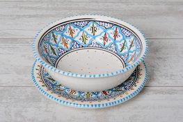 Fruit-test Turquoise blue fine 20 cm | FT.BC.20 | Dishes & Deco
