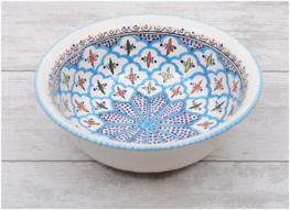 Saladier Turquoise blue fine Ø 30 cm | SS.BC.30 | Dishes & Deco