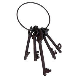 Decoratie sleutel 11*5*25 cm Bruin   6Y2051   Clayre & Eef