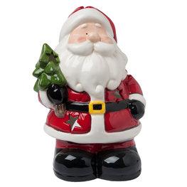 Waxinelichthouder Kerstman 18*14*26 cm Multi | 6CE0765 | Clayre & Eef