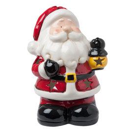 Waxinelichthouder kerstman 18*14*26 cm Multi | 6CE0766 | Clayre & Eef