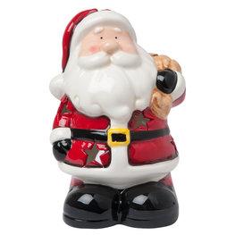 Waxinelichthouder kerstman 14*12*20 cm Multi | 6CE0767 | Clayre & Eef