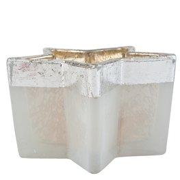 Waxinelichthouder 11*10*6 cm Wit | 6GL1561 | Clayre & Eef