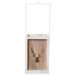 Waxinelichthouder 15*15*23 cm Wit | 6H1495XL | Clayre & Eef