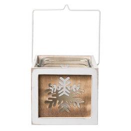 Waxinelichthouder 15*14*13 cm Wit | 6H1496L | Clayre & Eef