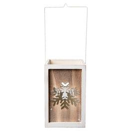Waxinelichthouder 15*15*23 cm Wit | 6H1496XL | Clayre & Eef