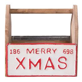 Decoratie kistje Merry Xmas 30*13*30 cm Multi | 6H1637 | Clayre & Eef
