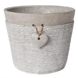 Bloempot ø 18*15 cm Grijs | 6TE0128L | Clayre & Eef