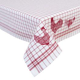 Tafelkleed 100*100 cm Rood | CSC01R | Clayre & Eef