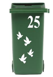 Klikosticker vogels met huisnummer | Rosami