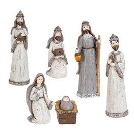 Kerstgroepje ø 4*15 cm Grijs | 6PR0867 | Clayre & Eef