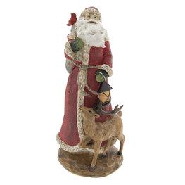Kerstman 15*15*32 cm Rood | 6PR2298 | Clayre & Eef