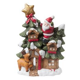 Waxinelichthouder kerstman 33*14*50 cm Multi | 6TE0162 | Clayre & Eef