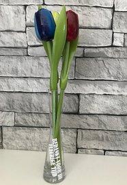 Tulpen in Vaas - Bedankt voor de fleurige tijd | Juf & Meester Bedankjes