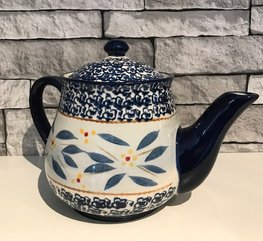 Theepot 1,5 L Ø 12 x 17 cm old world blue | Lavandoux