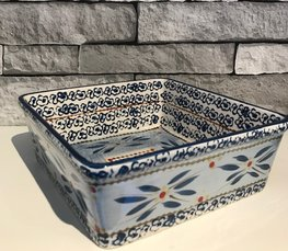 Ovenschaal 20 x 20 cm old world blue | Lavandoux