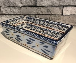 Ovenschaal 25 x 14 cm old world blue | Lavandoux