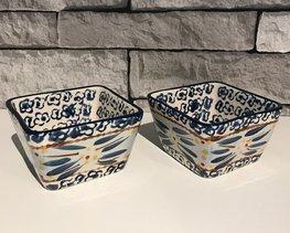 Tapas schaaltjes set 2 stuks  9 x 9 cm old world blue | Lavandoux