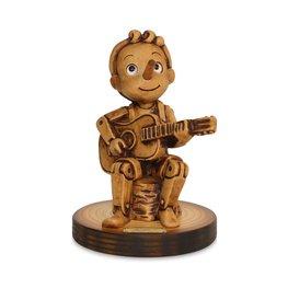 Beeld Pinokkio met gitaar - Music Collection 14,5 x 10 cm | Bartolucci