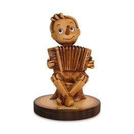 Beeld Pinokkio met accordion - Music Collection 15 x 10 cm | Bartolucci