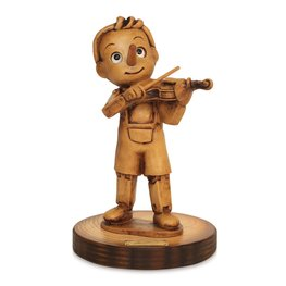 Beeld Pinokkio viool 16,5 x 10 cm - Music Collection | Bartolucci