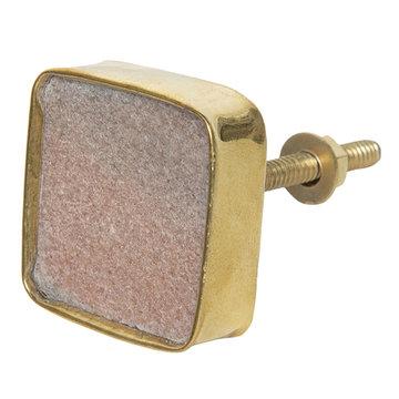 2 STUKS Deurknop 4*4 cm Licht roze | 64181 | Clayre & Eef