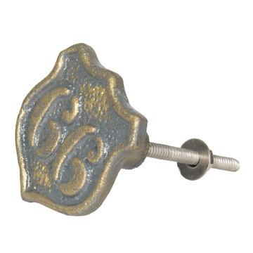 2 STUKS Deurknop 4*5 cm Bruin | 64153 | Clayre & Eef